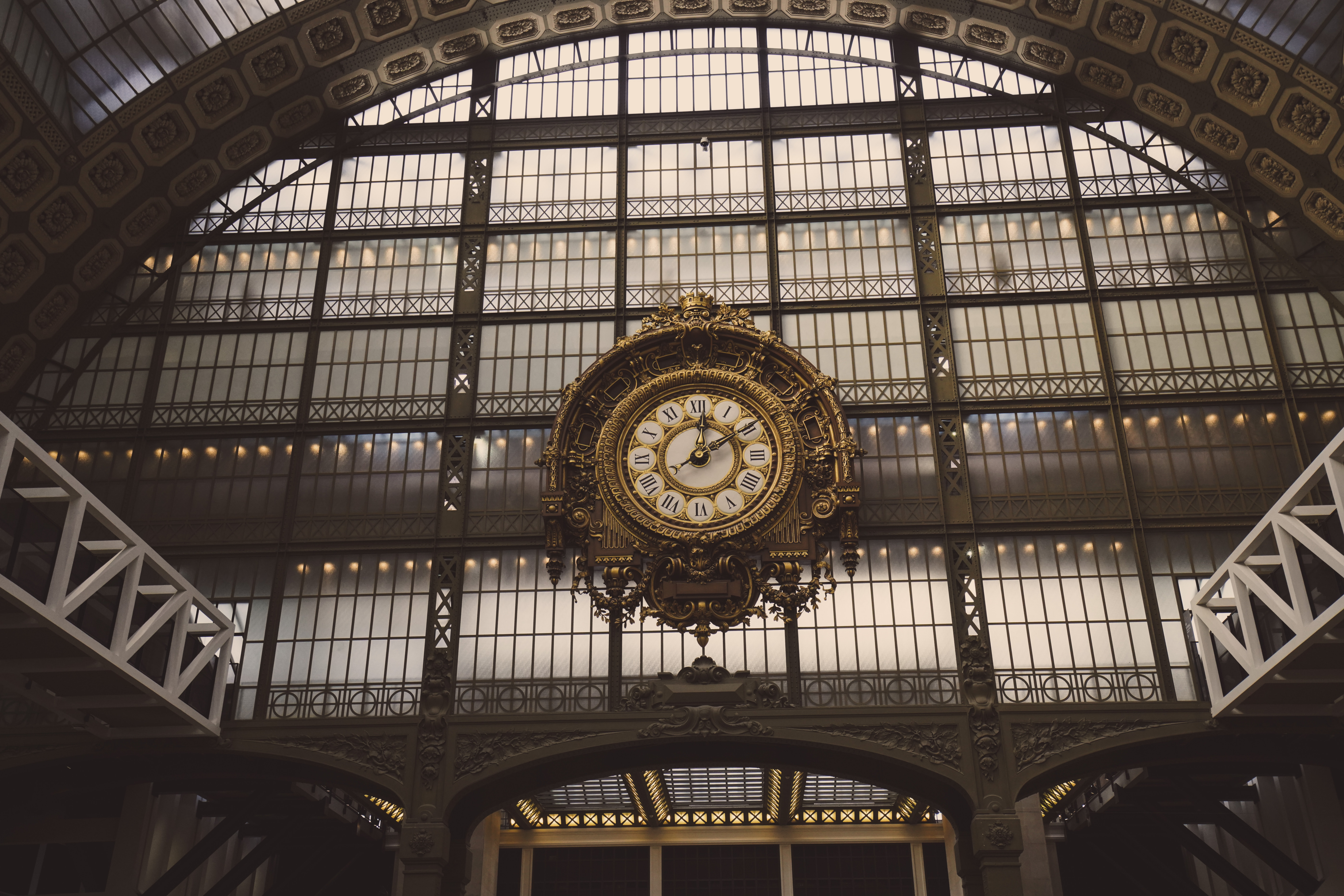 The famous grand clock in the Musee de Orsay that oversees the entire museum.