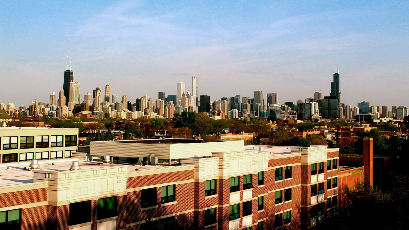A view of the campus at DePaul University.