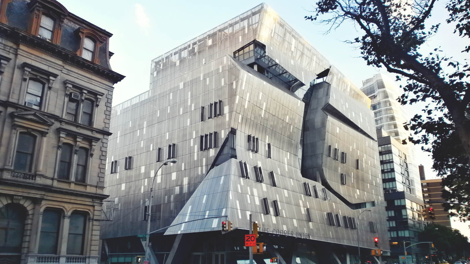 A picture of a building at the Cooper Union campus.