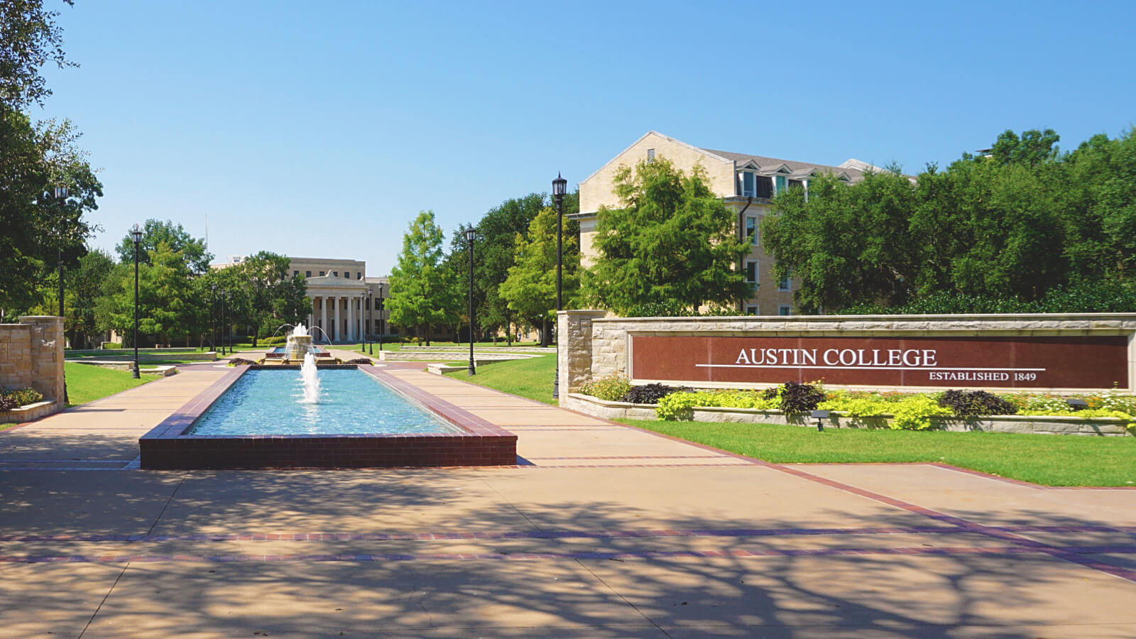 A picture of the campus at Austin College