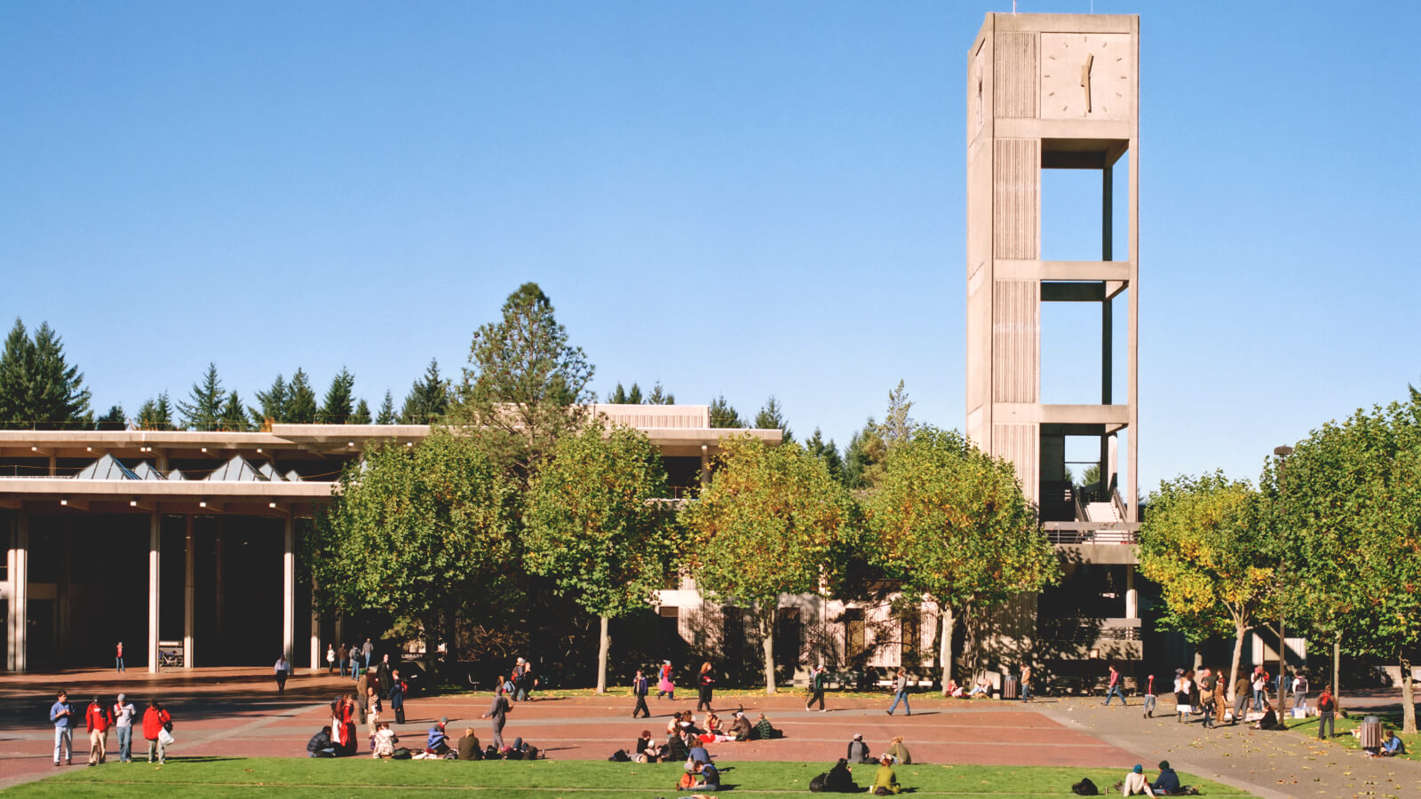 A view of the campus at Evergreen State College.